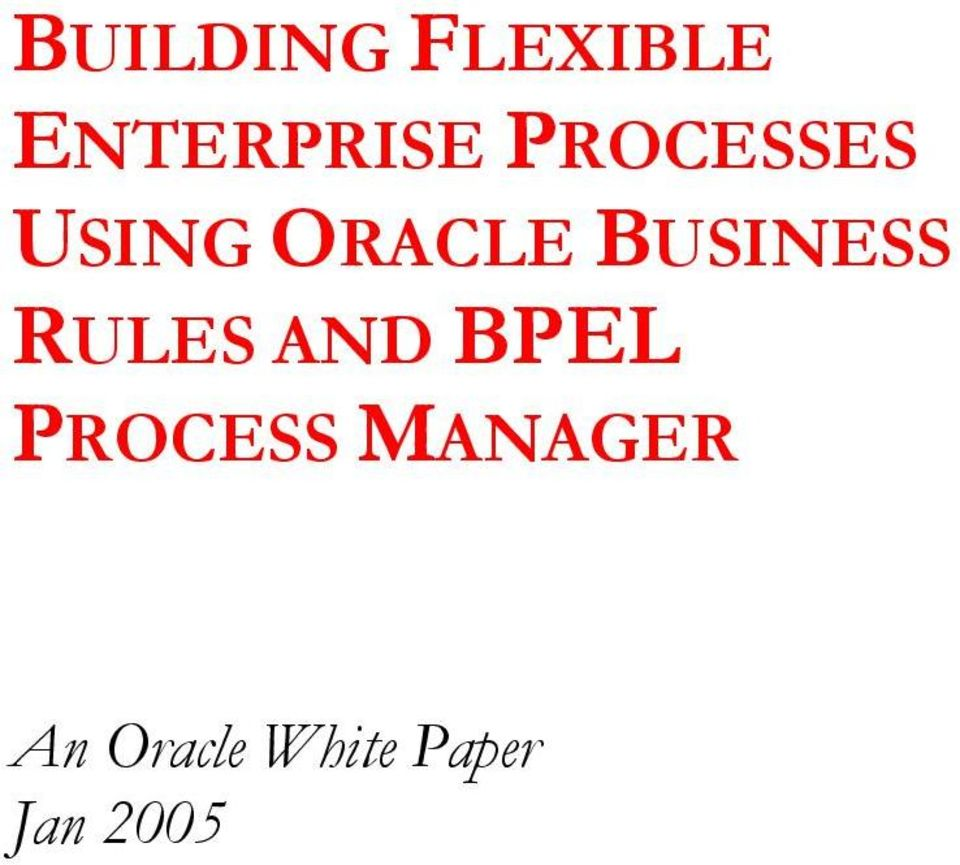 BUSINESS RULES AND BPEL