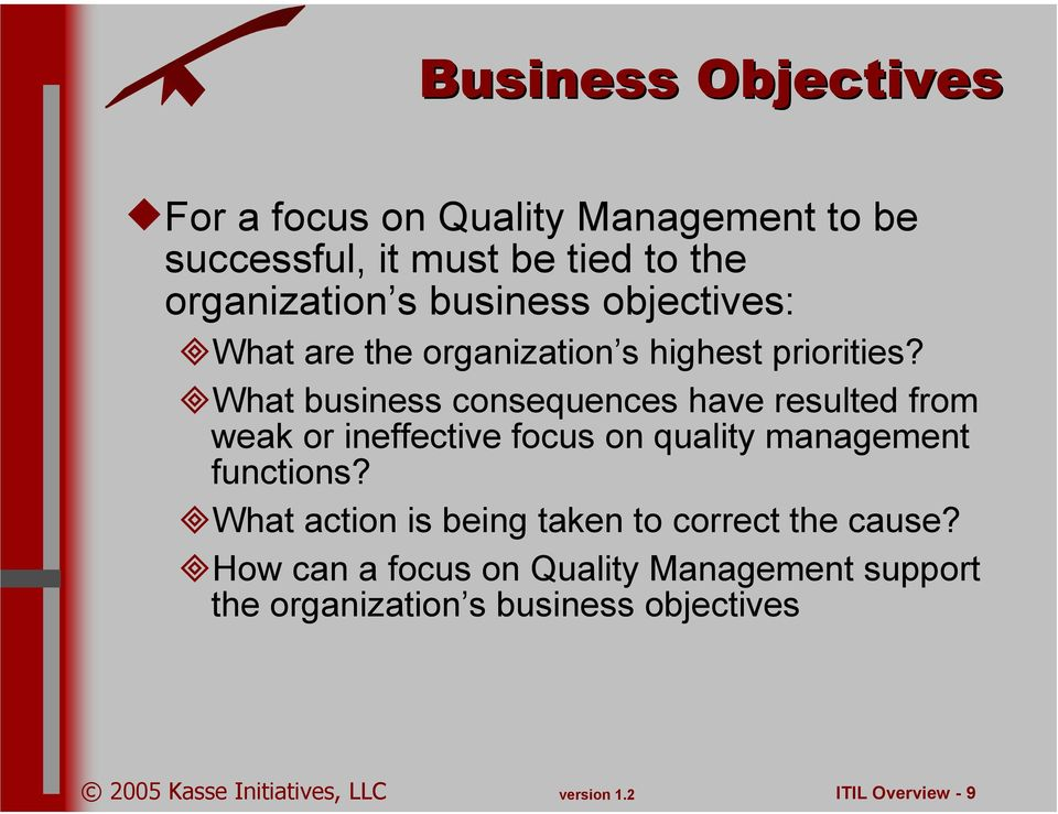 What business consequences have resulted from weak or ineffective focus on quality management functions?