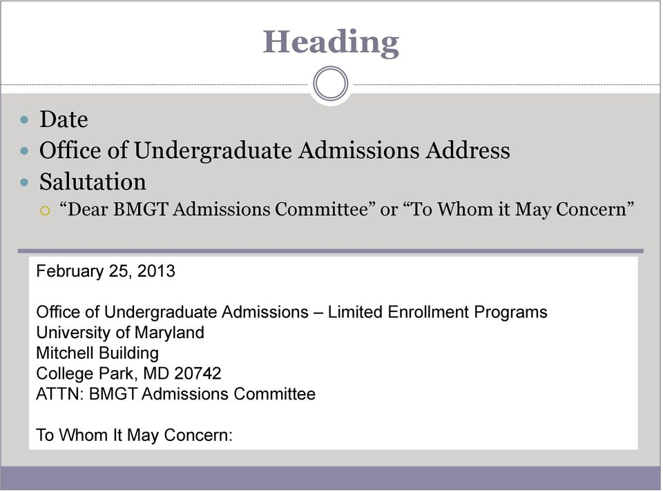 Undergraduate Admissions Limited Enrollment Programs University of Maryland