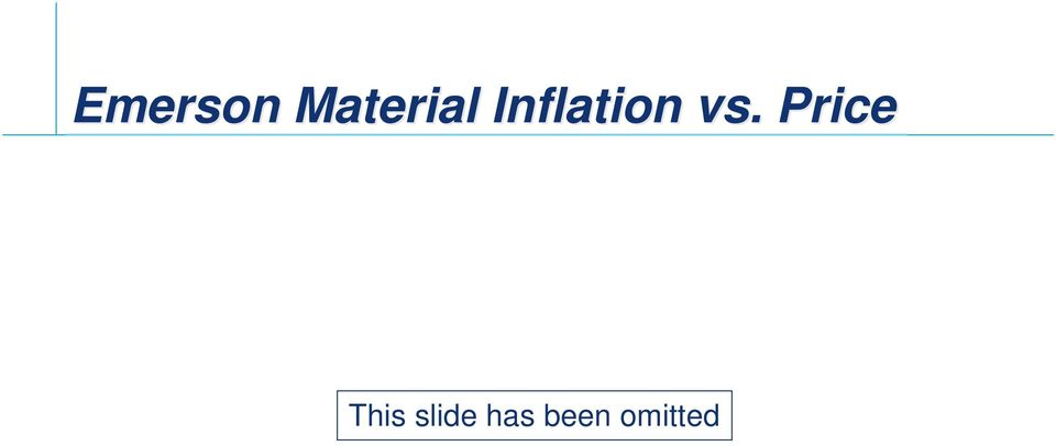 Inflation vs.