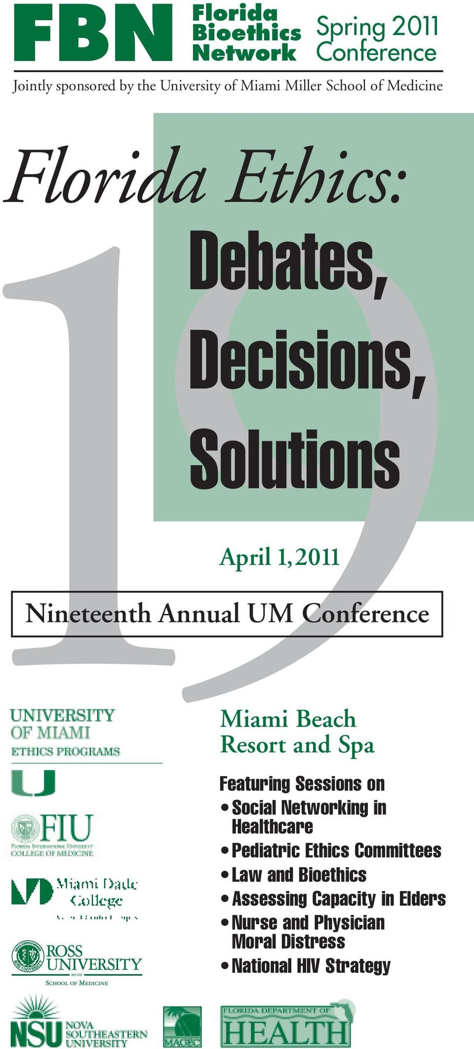 Conference Miami Beach Resort and Spa 9Featuring Sessions on Social Networking in Healthcare Pediatric