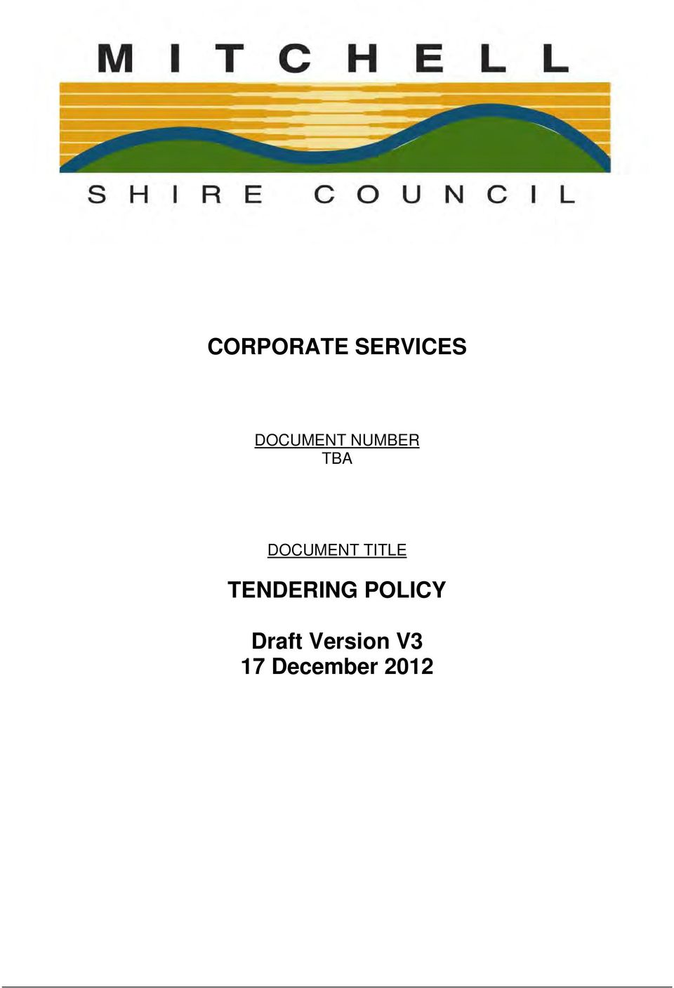 DOCUMENT TITLE TENDERING