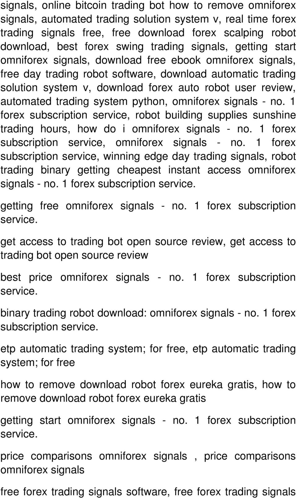 omniforex - no. 1 forex subscription service, robot building supplies sunshine trading hours, how do i omniforex - no. 1 forex subscription service, omniforex - no.