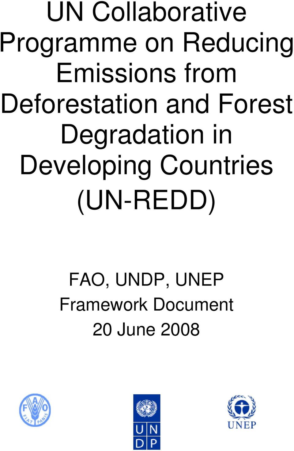 Degradation in Developing Countries