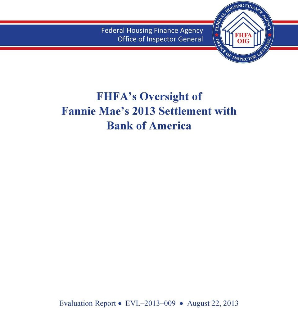 Federal Housing Finance Agency Office of Inspector General