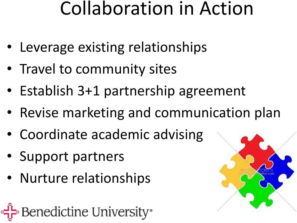 agreement Revise marketing and communication plan