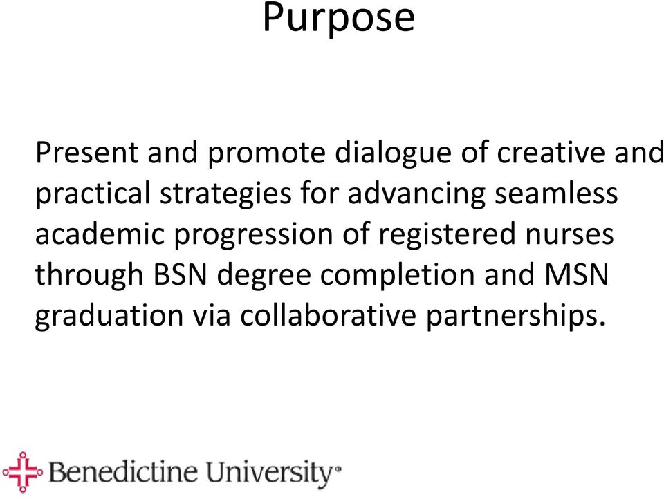 progression of registered nurses through BSN degree