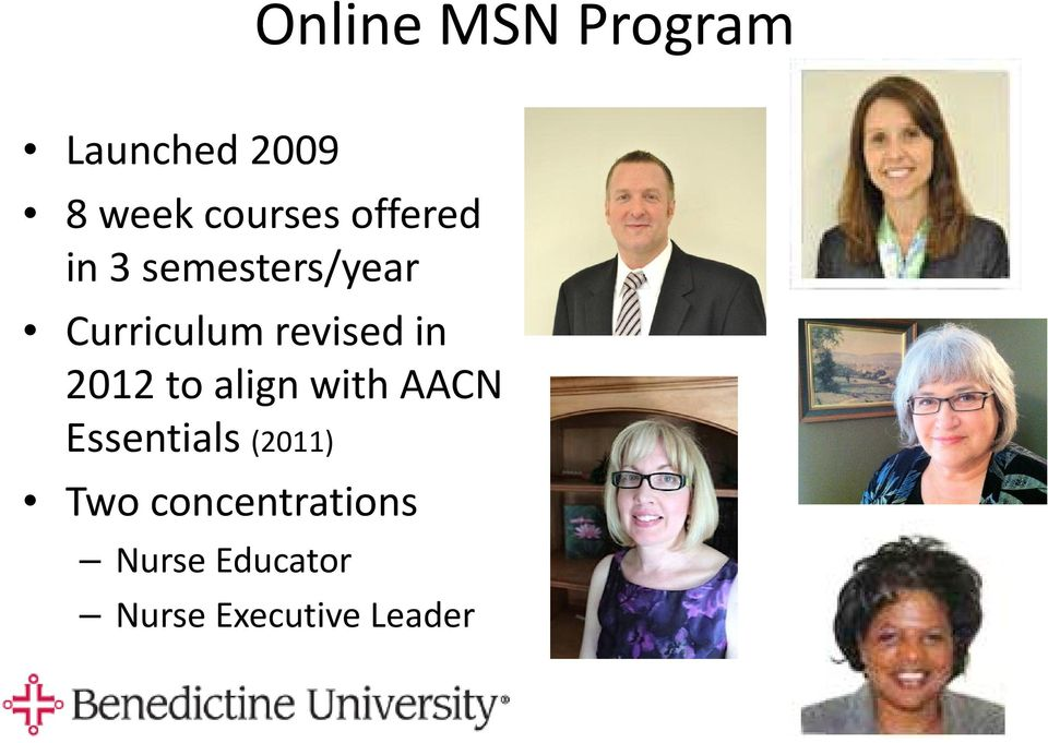 in 2012 to align with AACN Essentials (2011) Two