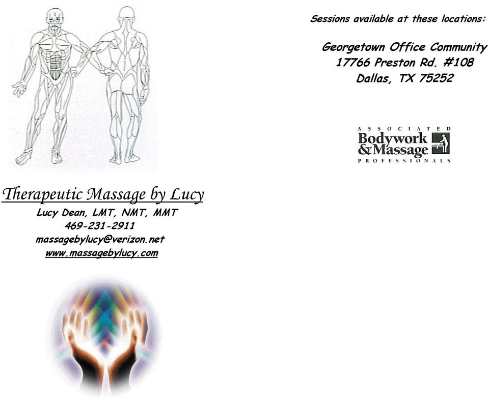 #108 Dallas, TX 75252 Therapeutic Massage by Lucy Lucy