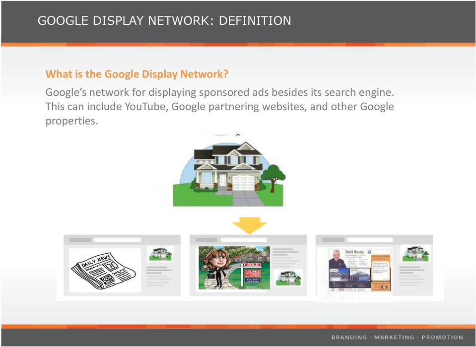 Google s network for displaying sponsored ads besides