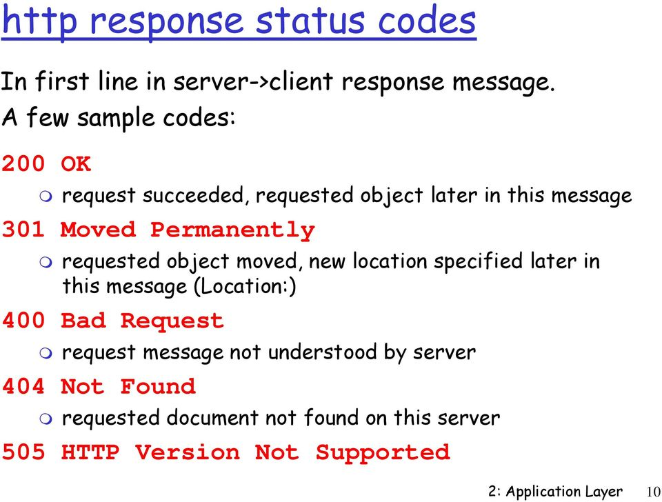 requested object moved, new location specified later in this message (Location:) 400 Bad Request request
