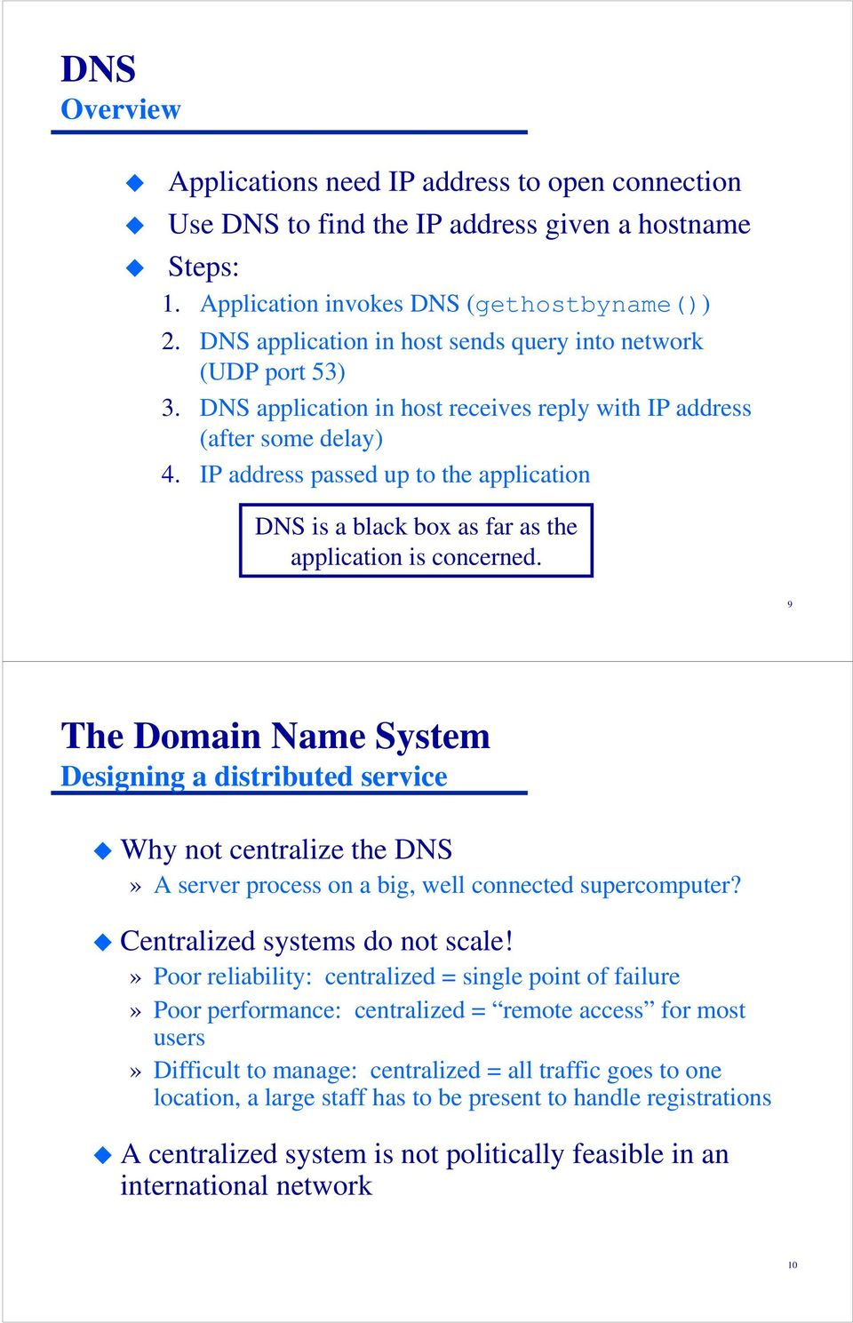 IP address passed up to the application DNS is a black box as far as the application is concerned.