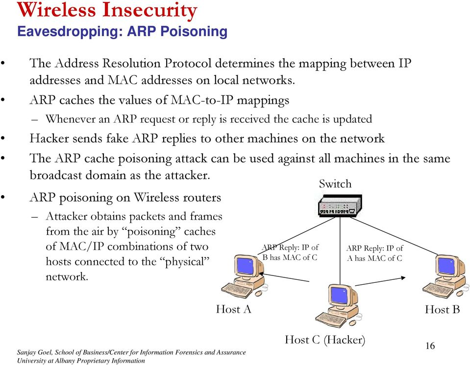 The ARP cache poisoning attack can be used against all machines in the same broadcast domain as the attacker.