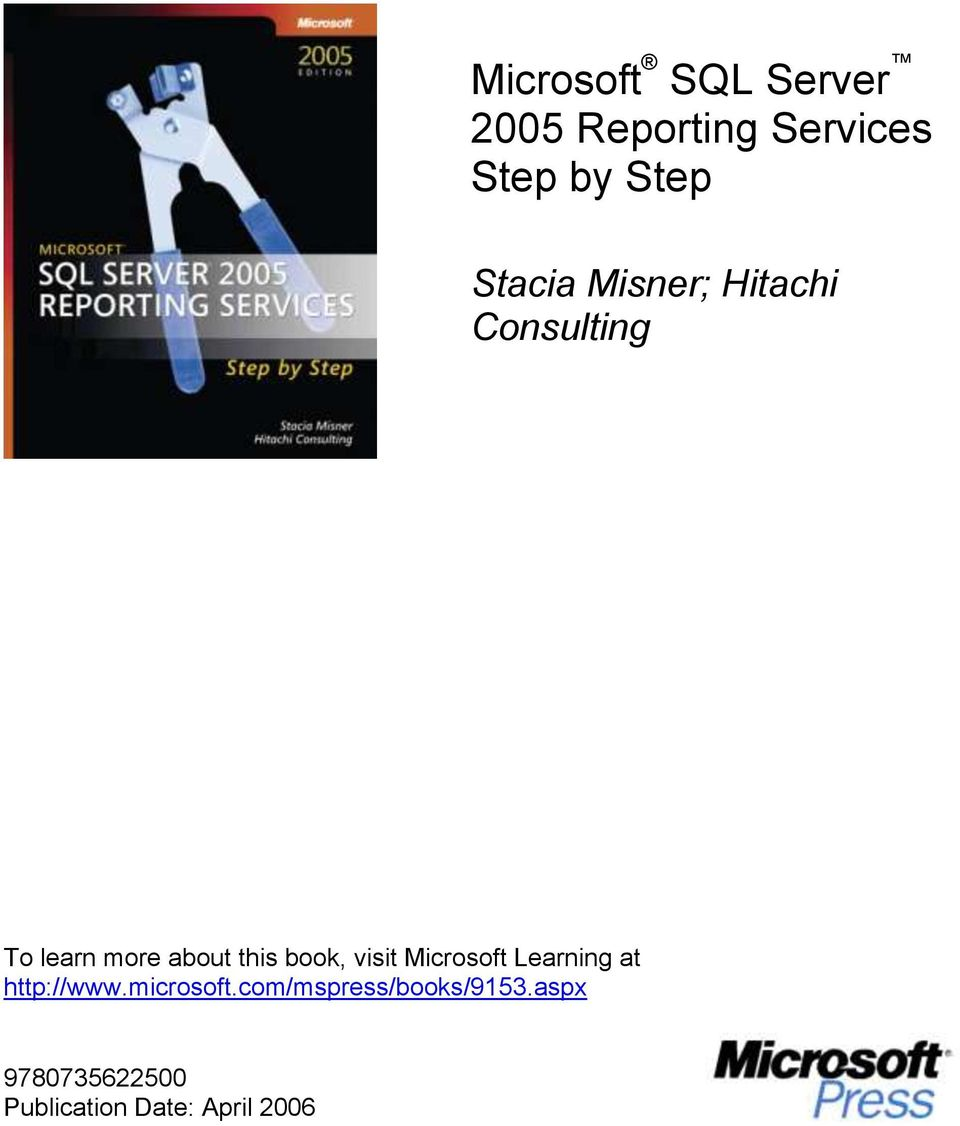 book, visit Microsoft Learning at http://www.microsoft.