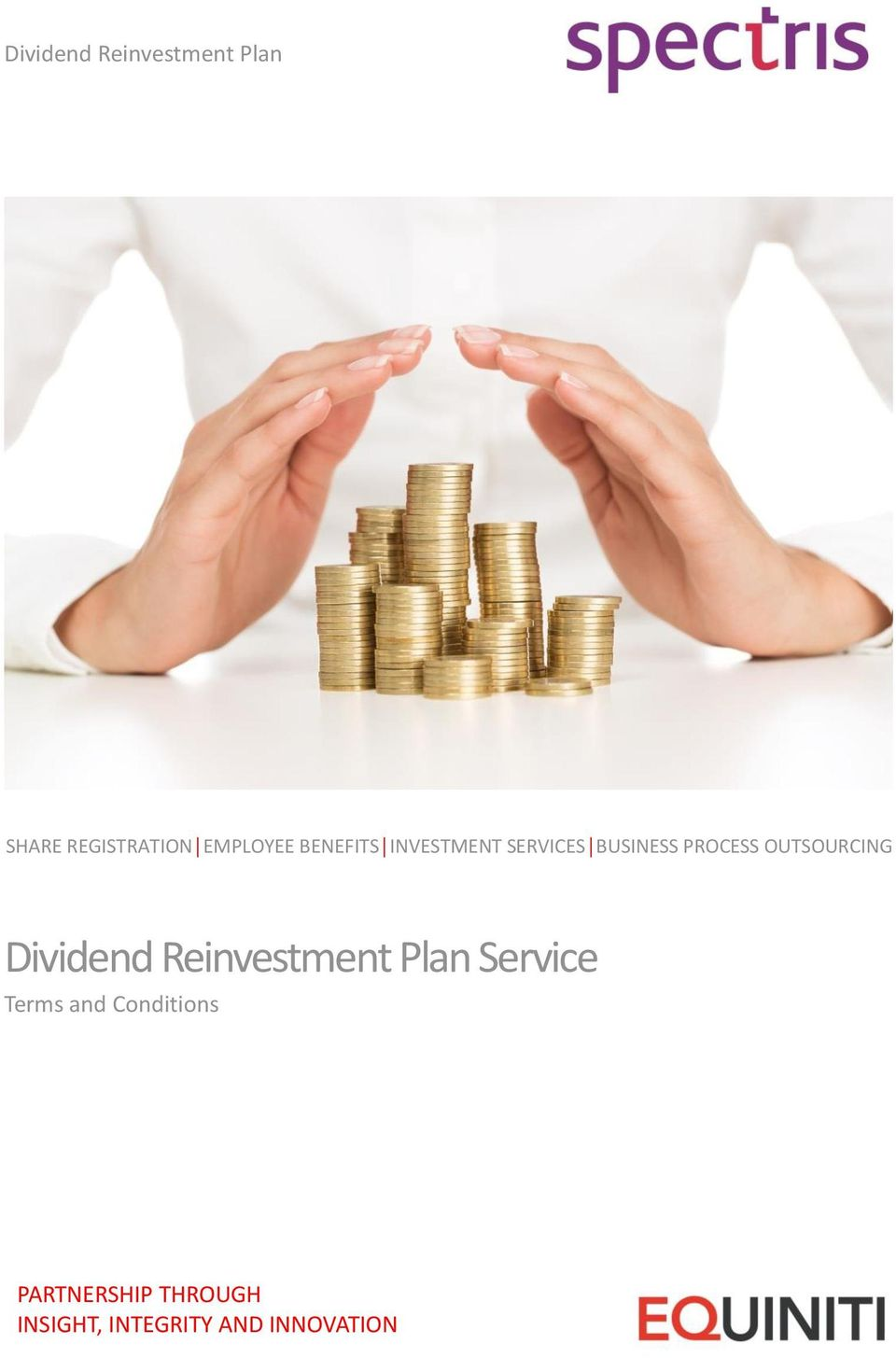 OUTSOURCING Dividend Reinvestment Plan Service Terms