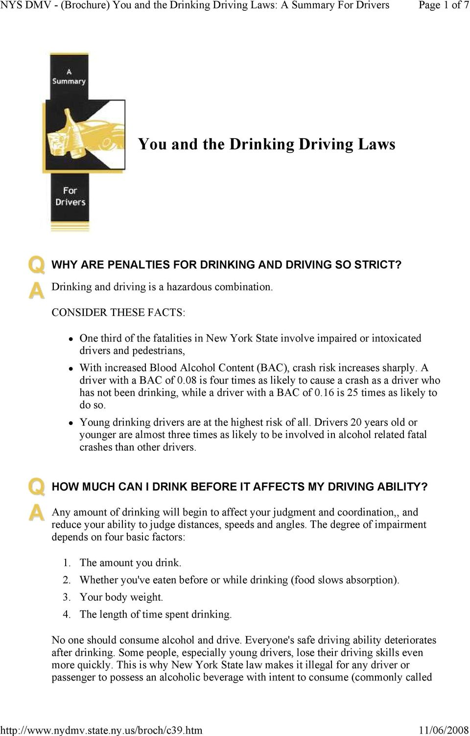 A driver with a BAC of 0.08 is four times as likely to cause a crash as a driver who has not been drinking, while a driver with a BAC of 0.16 is 25 times as likely to do so.