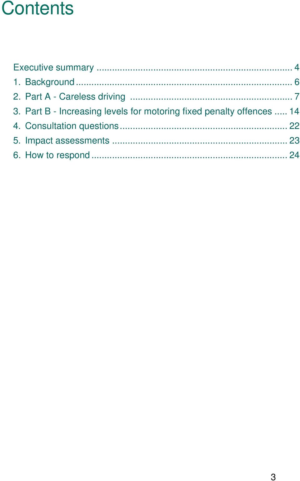 Part B - Increasing levels for motoring fixed penalty