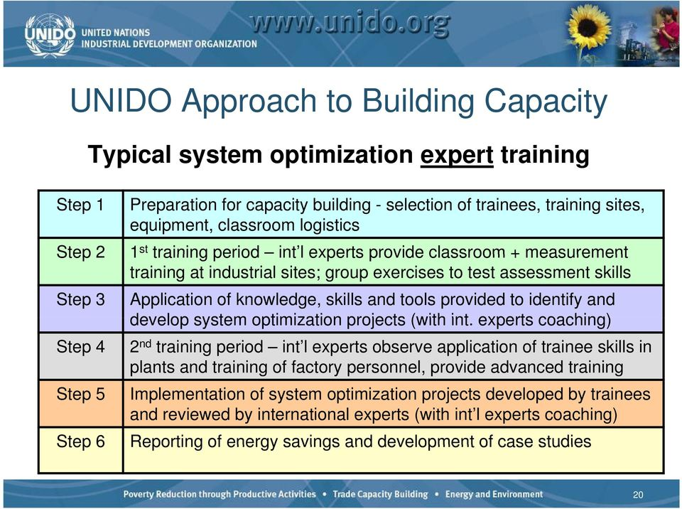to identify and develop system optimization projects (with int.