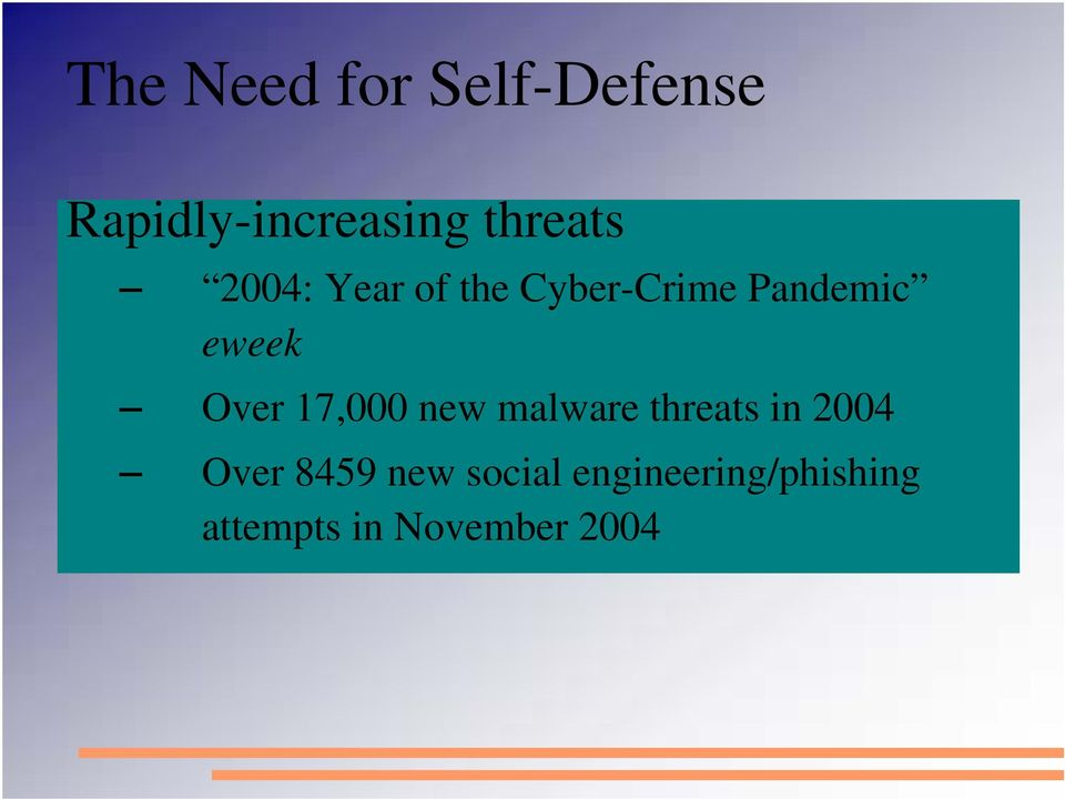 eweek Over 17,000 new malware threats in 2004 Over
