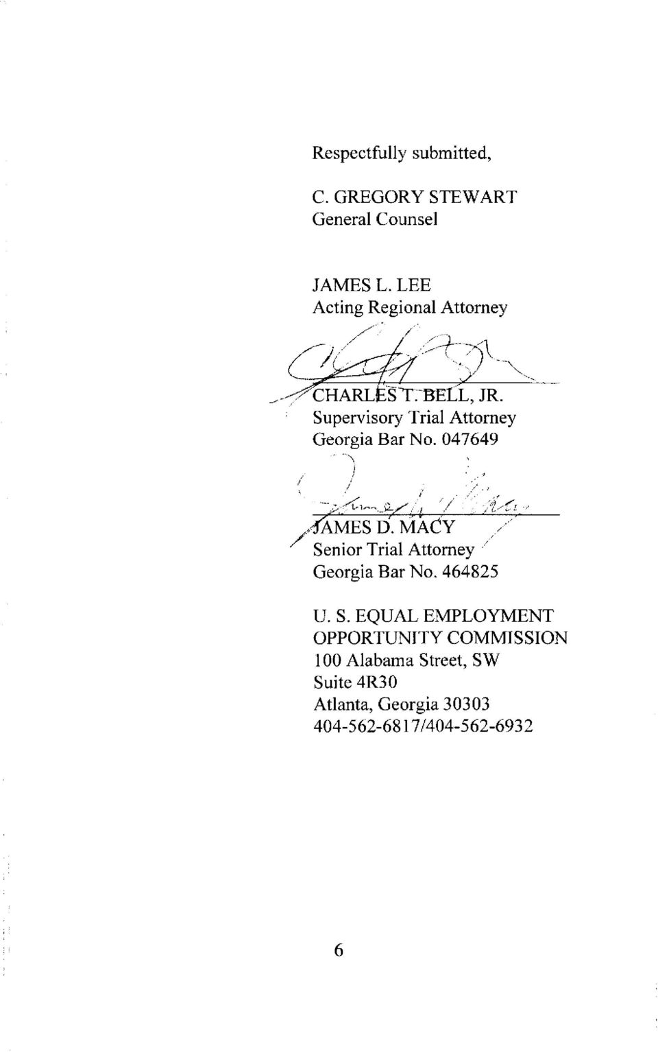 Supervisory Trial Attorney Georgia Bar No. 047649 _...~ f ~AMES D.