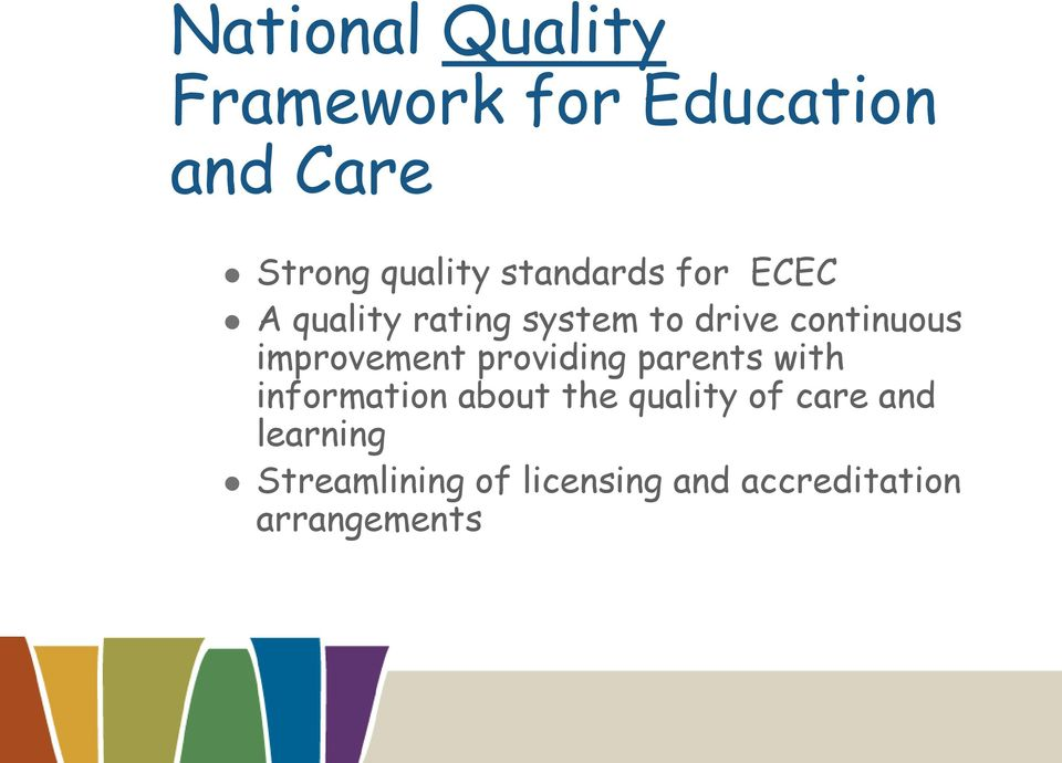 improvement providing parents with information about the quality of