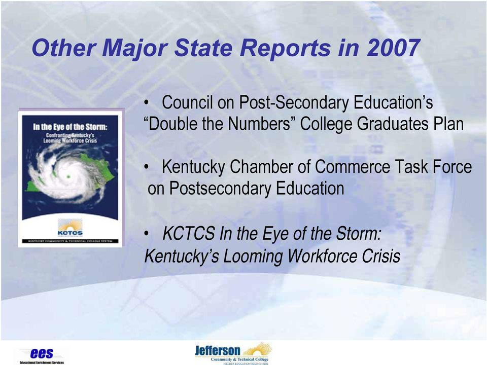 Kentucky Chamber of Commerce Task Force on Postsecondary