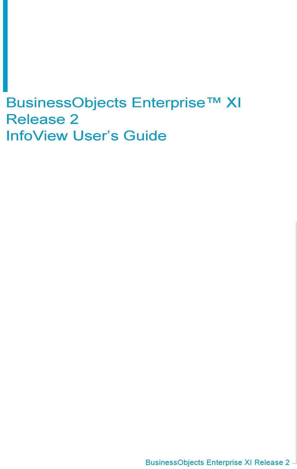 InfoView User s Guide