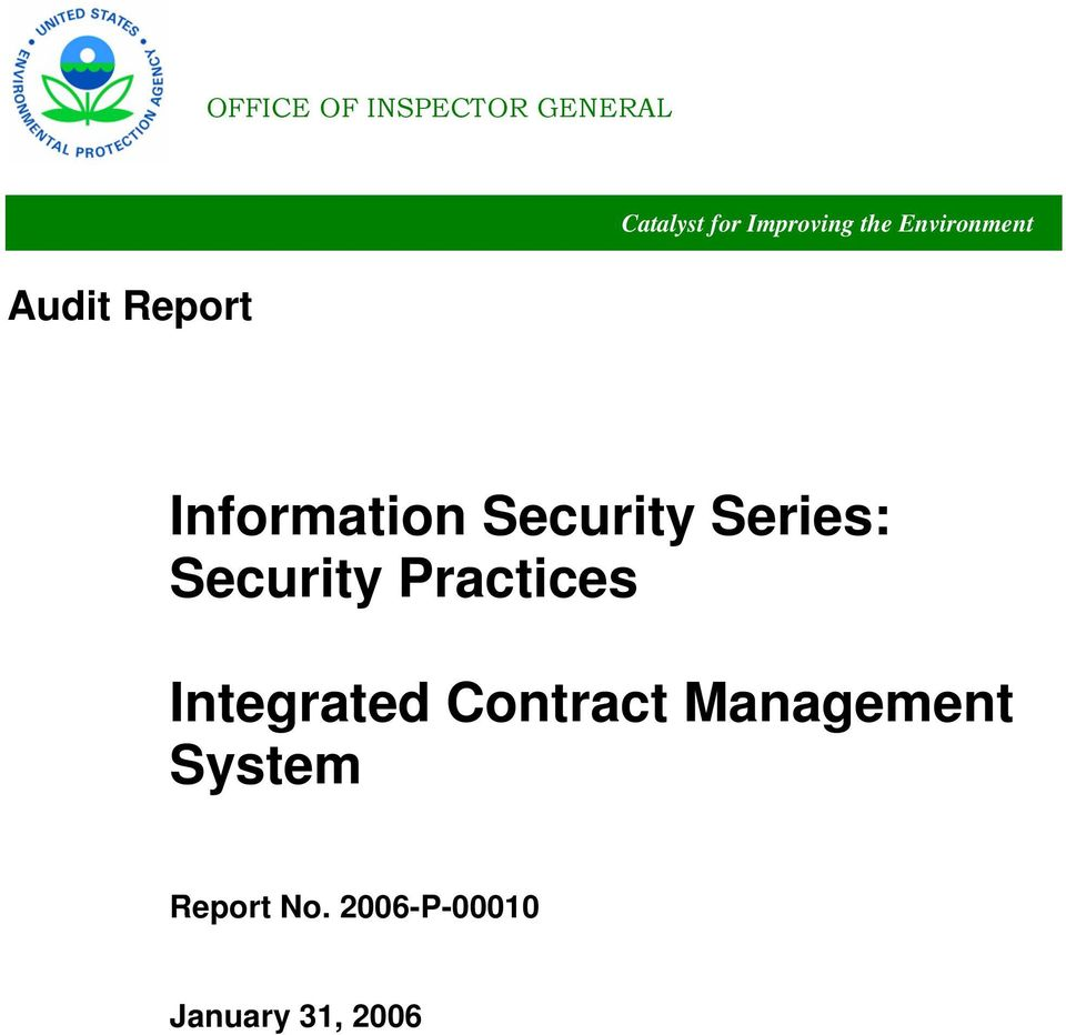 Series: Security Practices Integrated Contract