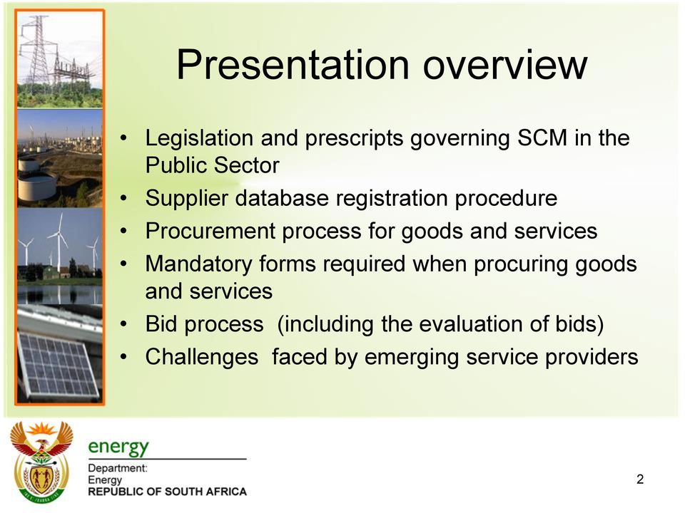and services Mandatory forms required when procuring goods and services Bid