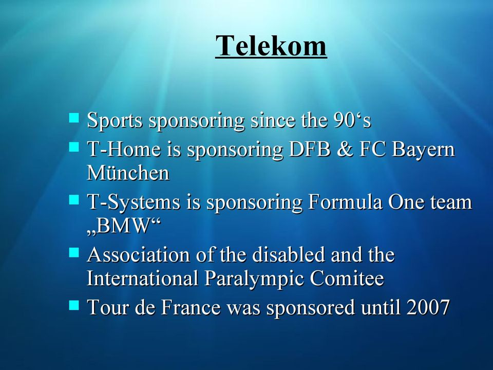 Formula One team BMW Association of the disabled and the