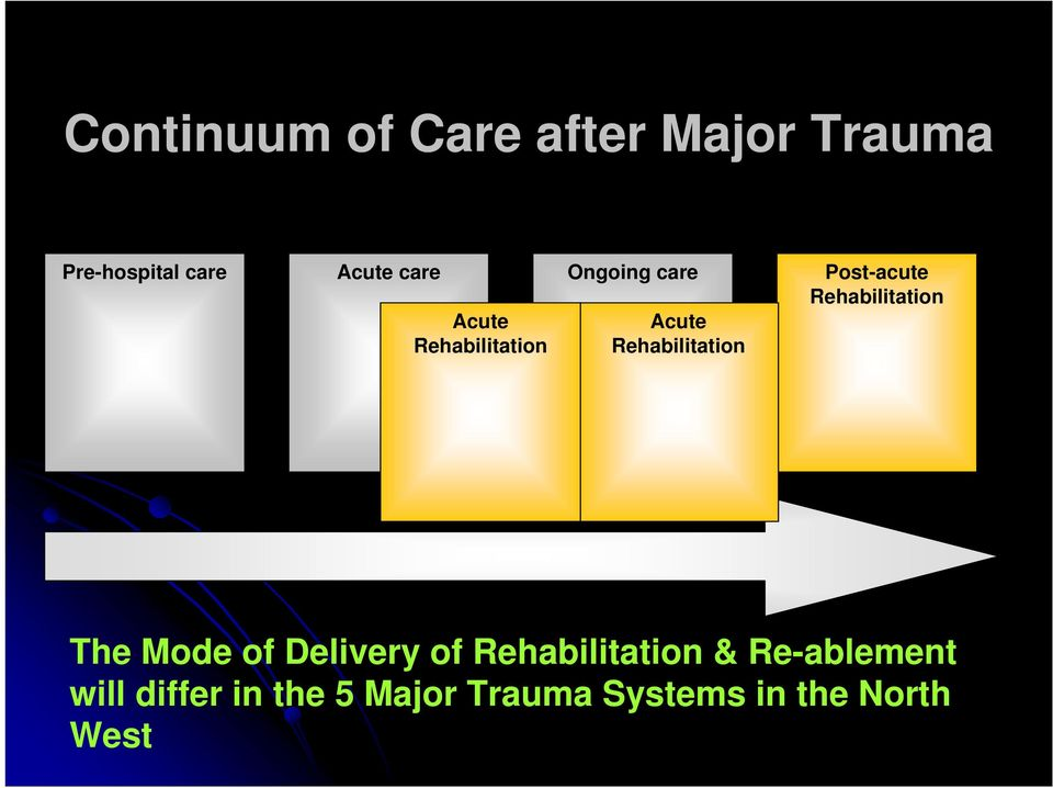 Post-acute Rehabilitation The Mode of Delivery of Rehabilitation