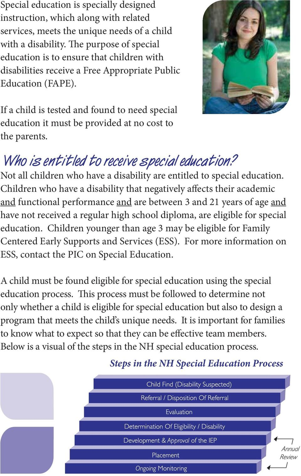 If a child is tested and found to need special education it must be provided at no cost to the parents. Who is entitled to receive special education?
