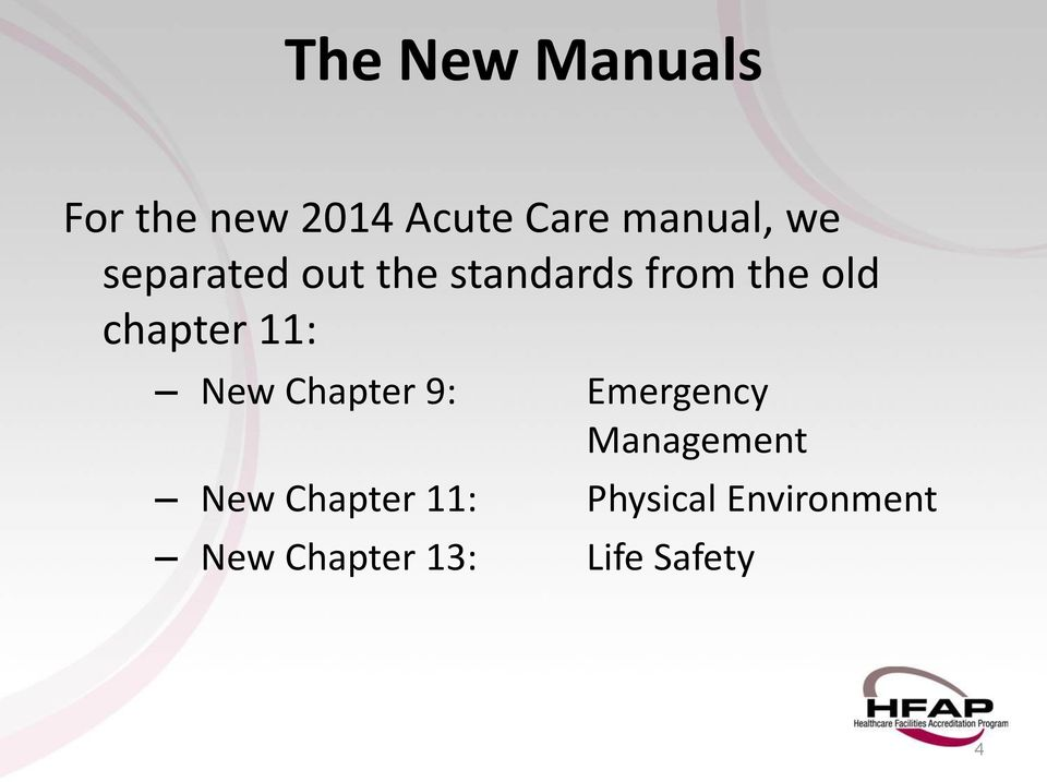 11: New Chapter 9: Emergency Management New Chapter