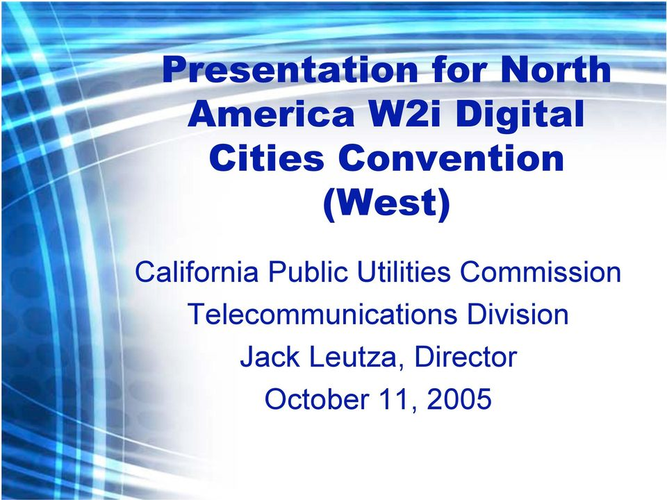Utilities Commission Telecommunications