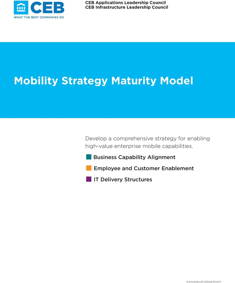 strategy for enabling high-value enterprise mobile capabilities.