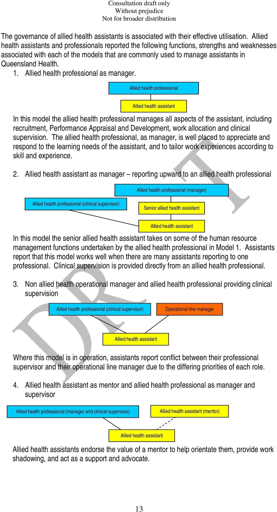 Health.. Allied health professional as manager.