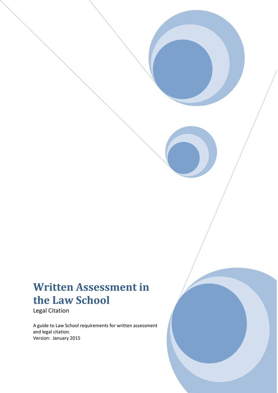 requirements for written assessment