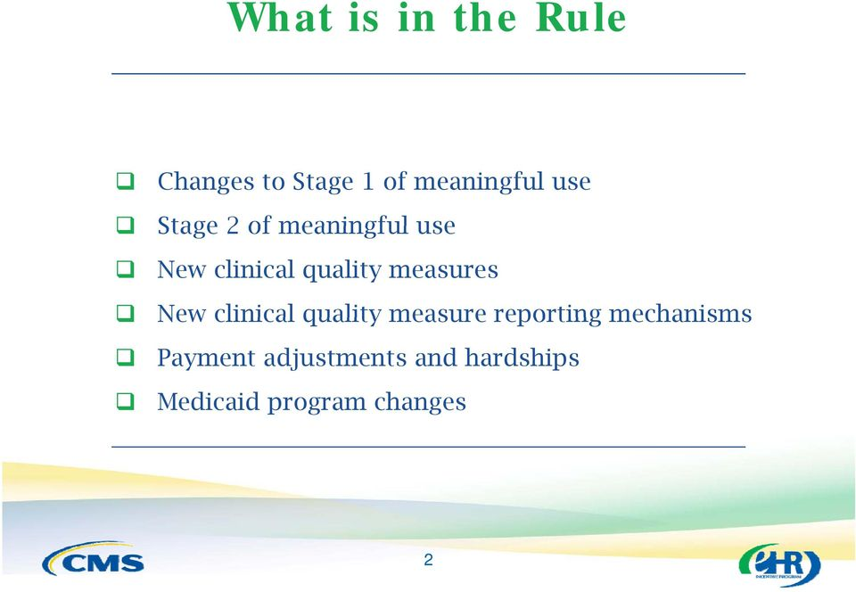 measures New clinical quality measure reporting
