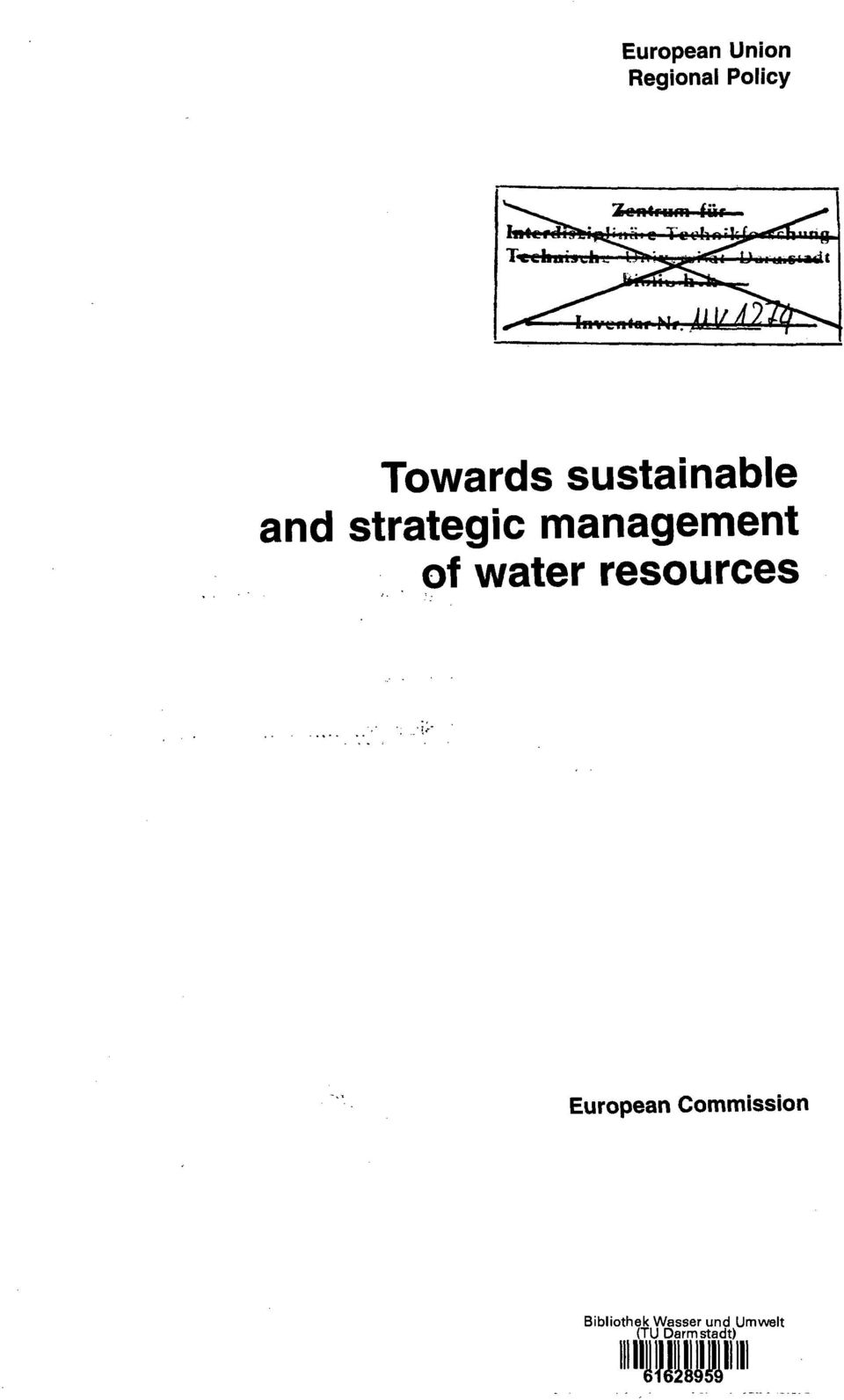management of water resources European
