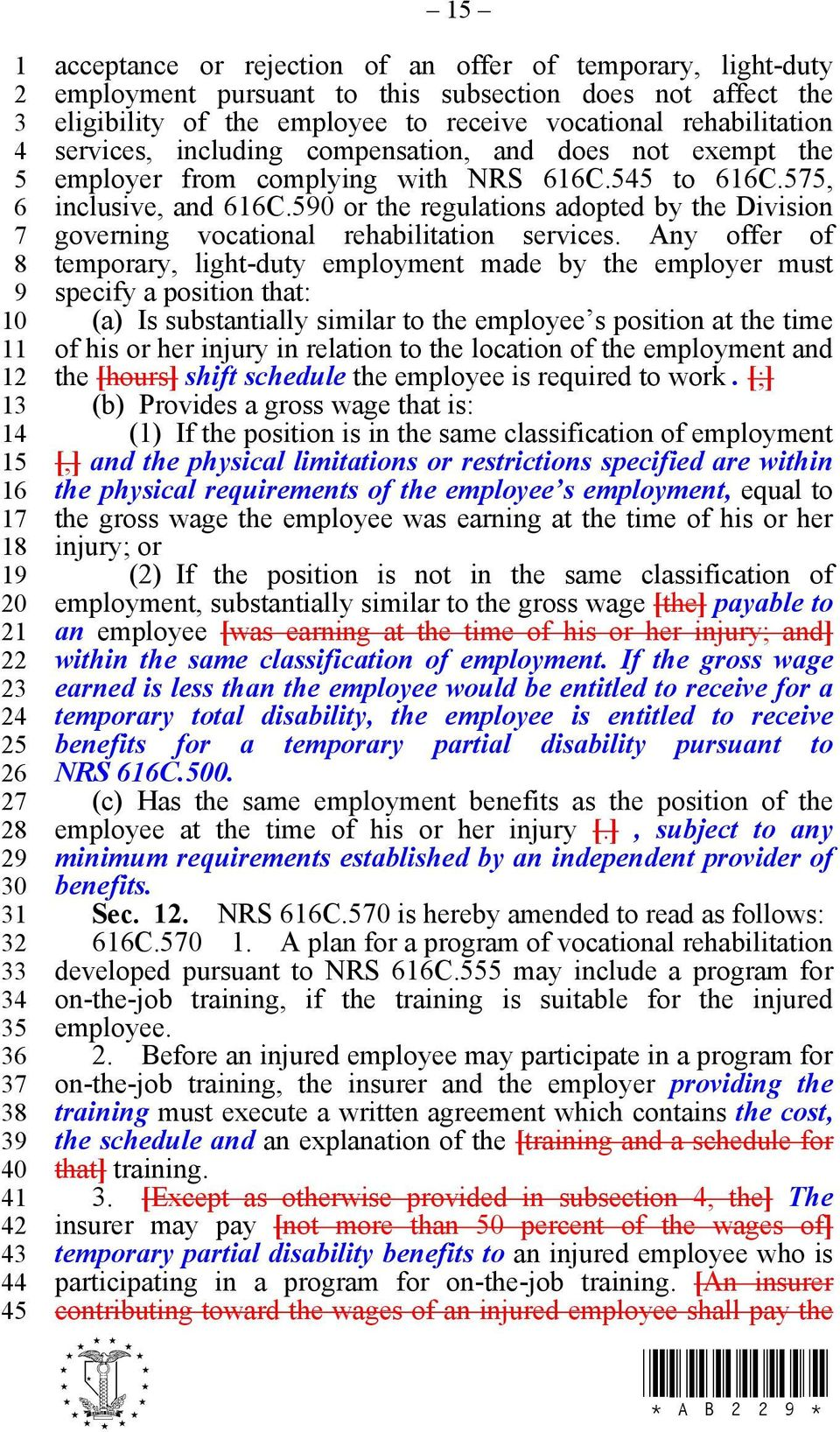 0 or the regulations adopted by the Division governing vocational rehabilitation services.