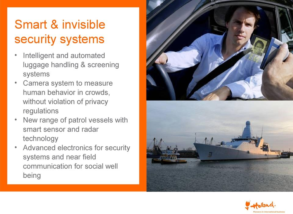 of privacy regulations New range of patrol vessels with smart sensor and radar