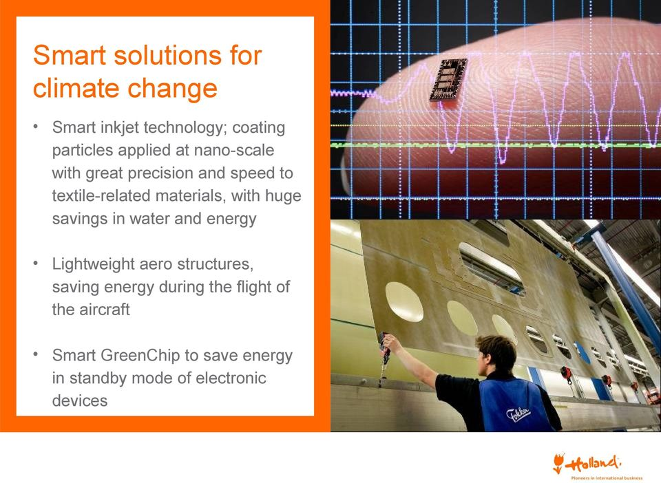 savings in water and energy Lightweight aero structures, saving energy during the