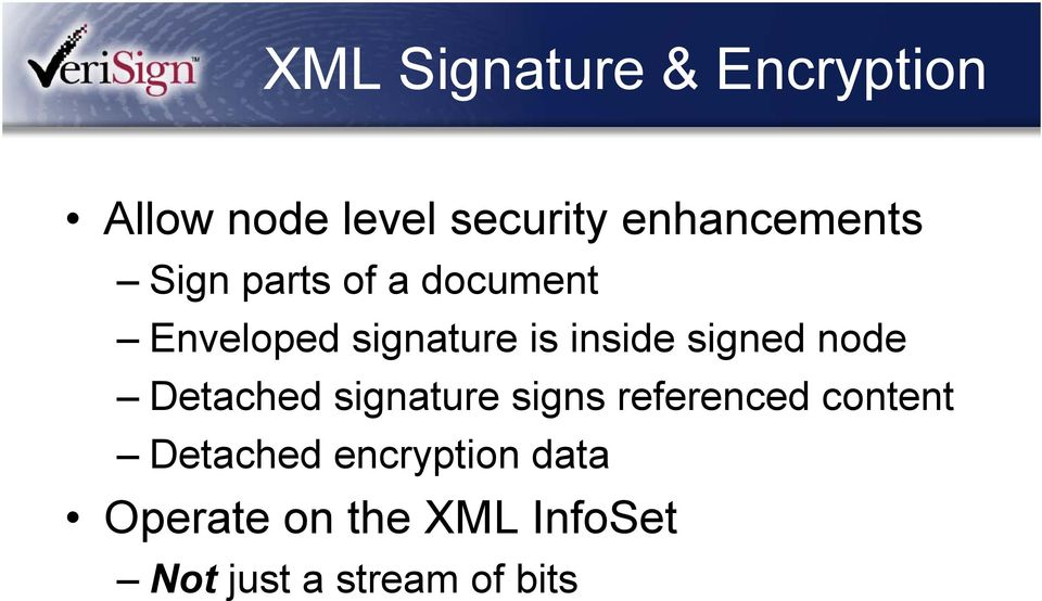 inside signed node Detached signature signs referenced content