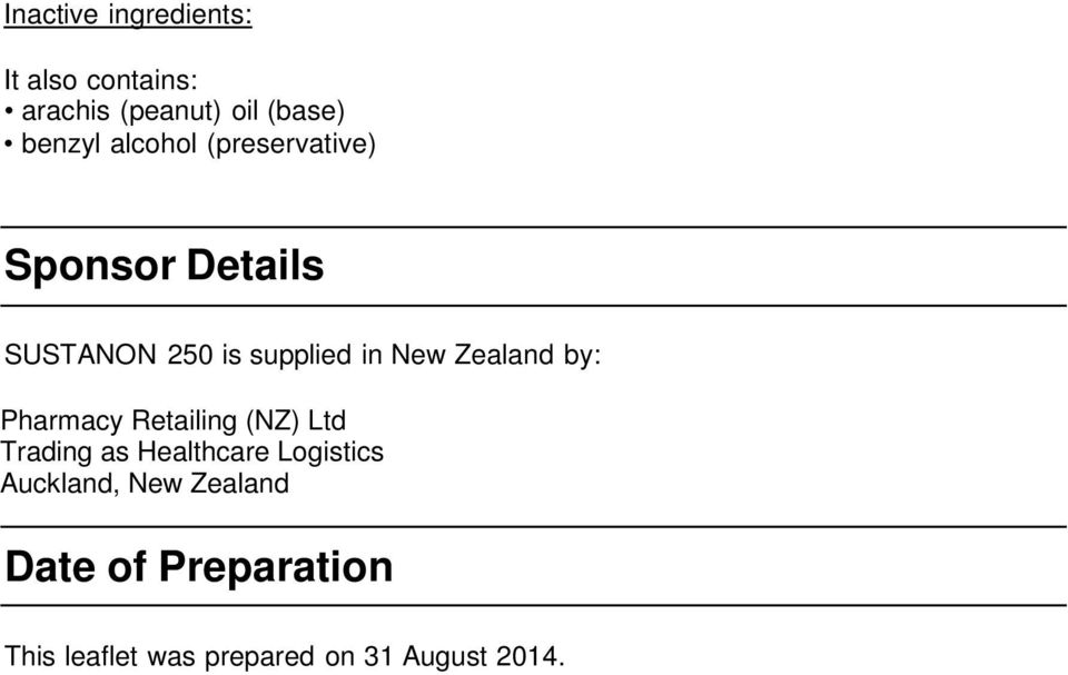 Zealand by: Pharmacy Retailing (NZ) Ltd Trading as Healthcare Logistics