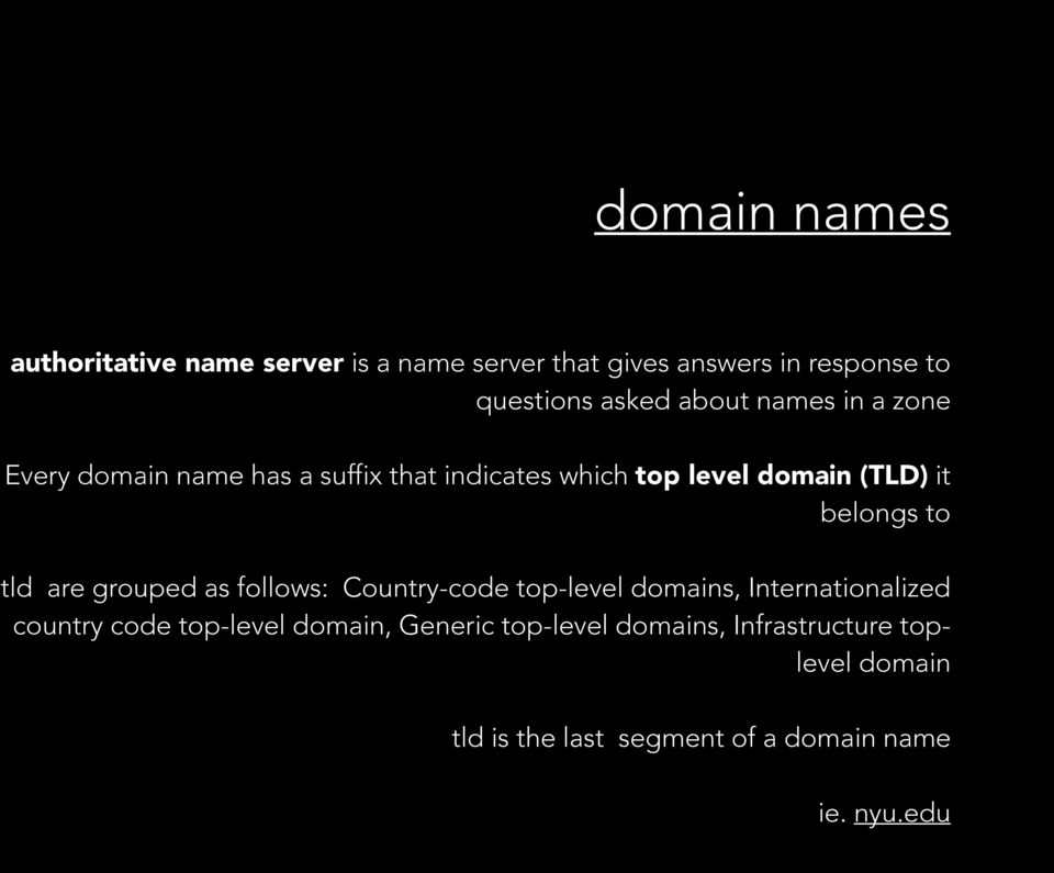 to tld are grouped as follows: Country-code top-level domains, Internationalized country code top-level