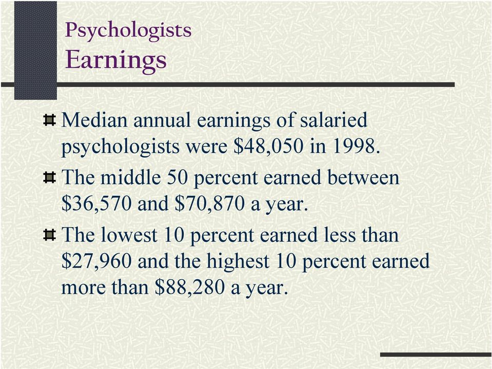 The middle 50 percent earned between $36,570 and $70,870 a year.