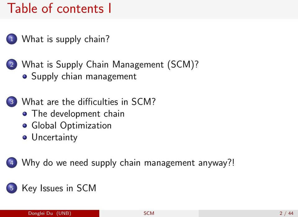 Supply chian management 3 What are the difficulties in SCM?