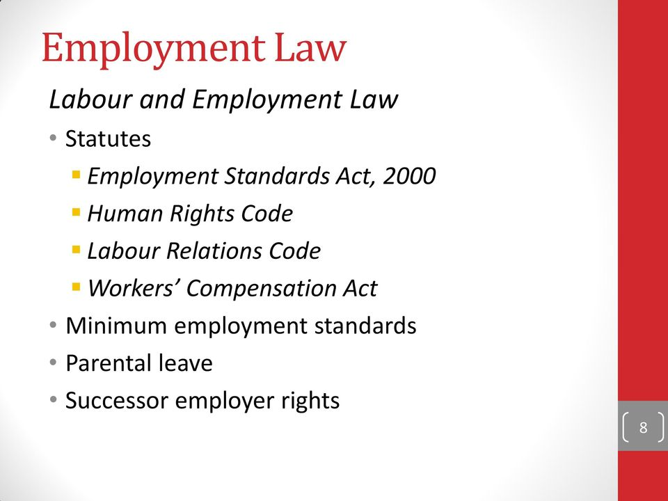 Labour Relations Code Workers Compensation Act Minimum