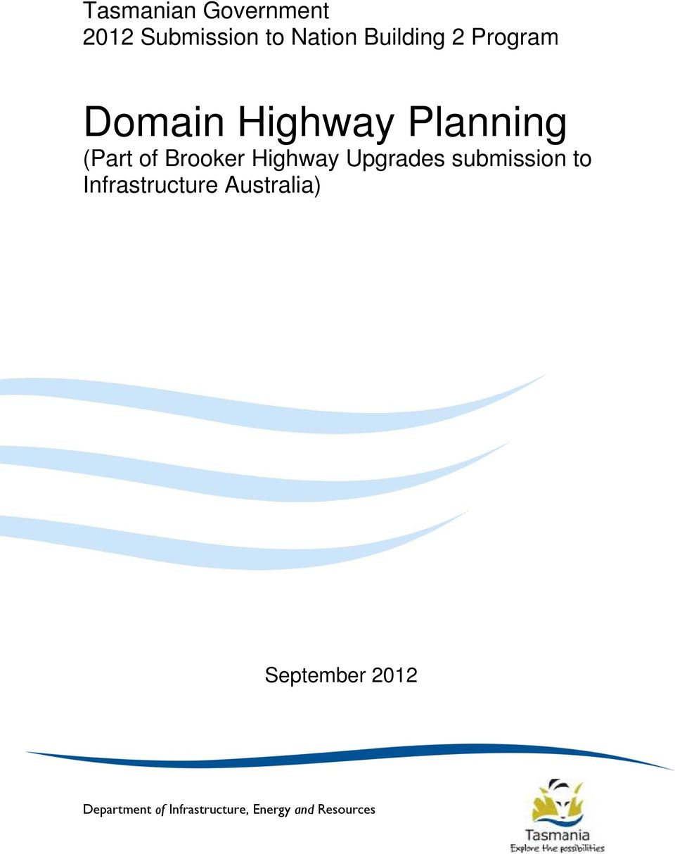 Highway Upgrades submission to Infrastructure Australia)