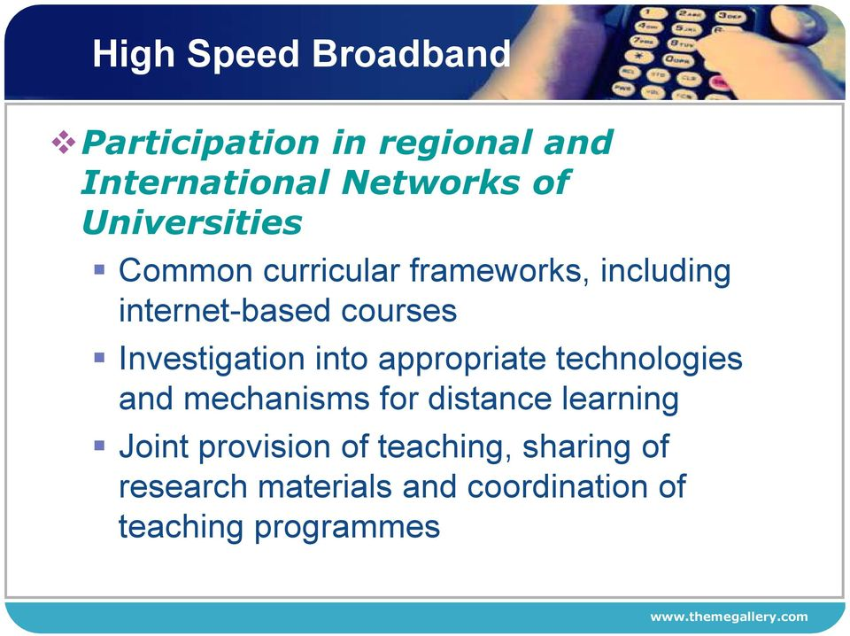 Investigation into appropriate technologies and mechanisms for distance learning